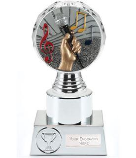"Music Trophy Silver Hemisphere 16.5cm (6.5"")"