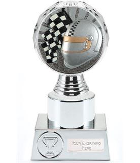 "Motorsport Trophy Silver Hemisphere 16.5cm (6.5"")"