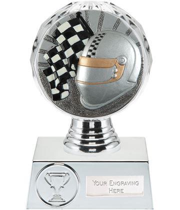 "Motorsport Trophy Silver Hemisphere 13.5cm (5.25"")"