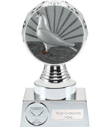 """Pigeon Racing Trophy Silver Hemisphere 15cm (6"""")"""
