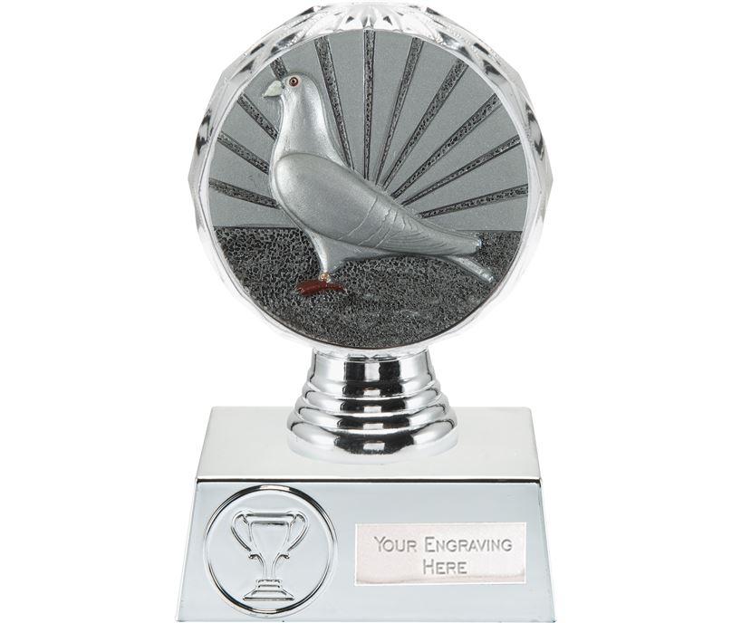"""Pigeon Racing Trophy Silver Hemisphere 13.5cm (5.25"""")"""