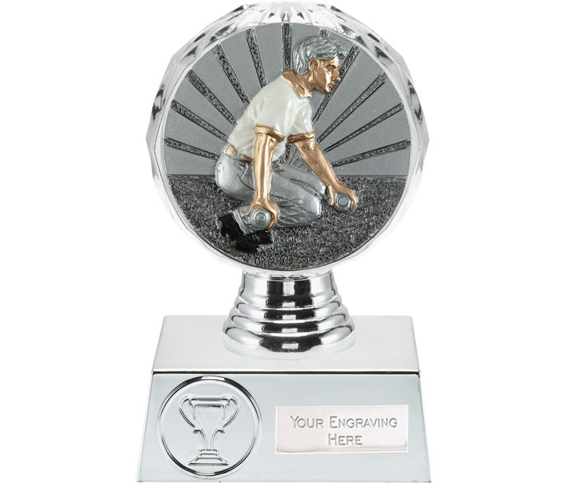 "Bowls Trophy Silver Hemisphere 13.5cm (5.25"")"