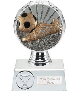 """Boot and Ball Trophy Silver Hemisphere 13.5cm (5.25"""")"""