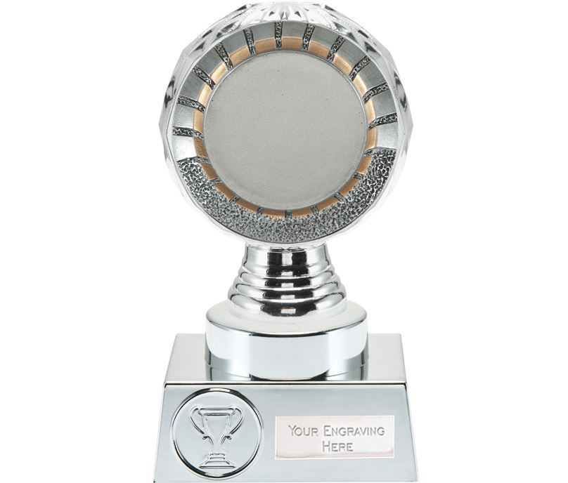 "50mm Centre Trophy Silver Hemisphere 15cm (6"")"