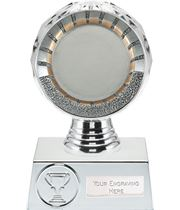 "50mm Centre Trophy Silver Hemisphere 13.5cm (5.25"")"