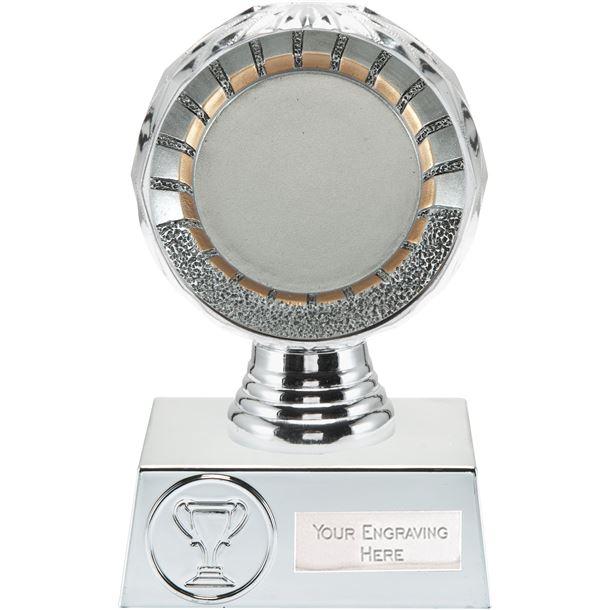"50mm Centre Trophy Silver Hemisphere 13.5cm (5.25"")"