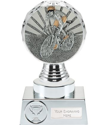 "Cycling Trophy Silver Hemisphere 15cm (6"")"