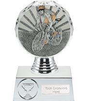 "Cycling Trophy Silver Hemisphere 13.5cm (5.25"")"