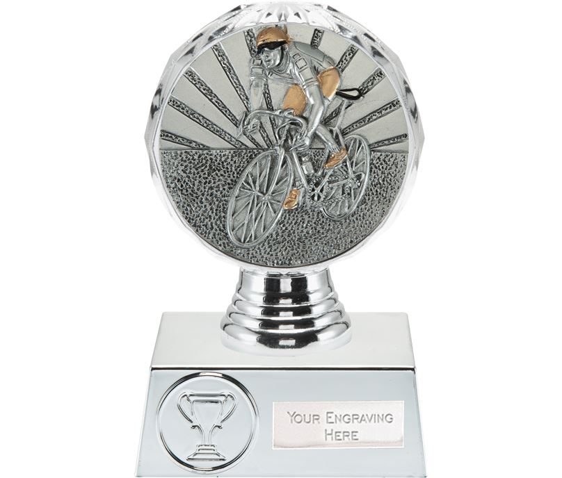 "Cycling Trophy Silver Hemisphere 13.5cm (5.25"")"