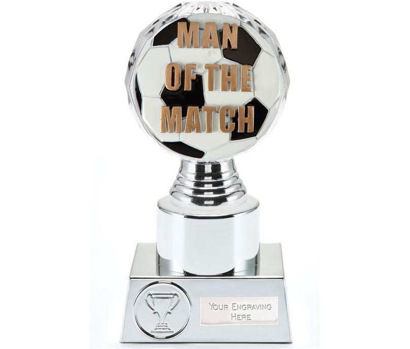 "Man of the Match Trophy Silver Hemisphere 16.5cm (6.5"")"
