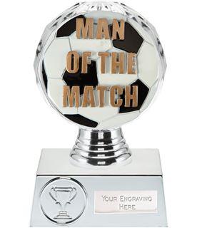 "Man of the Match Trophy Silver Hemisphere 13.5cm (5.25"")"