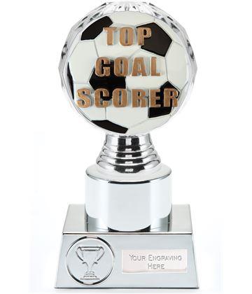 """Top Goal Scorer Trophy Silver Hemisphere 16.5cm (6.5"""")"""