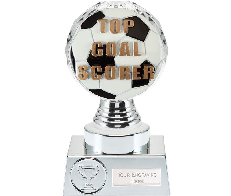 """Top Goal Scorer Trophy Silver Hemisphere 15cm (6"""")"""