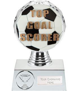 """Top Goal Scorer Trophy Silver Hemisphere 13.5cm (5.25"""")"""