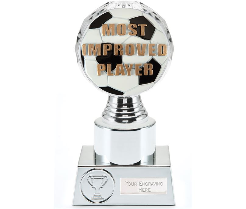 "Most Improved Player Trophy Silver Hemisphere 16.5cm (6.5"")"