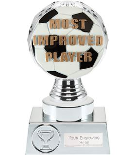 """Most Improved Player Trophy Silver Hemisphere 15cm (6"""")"""