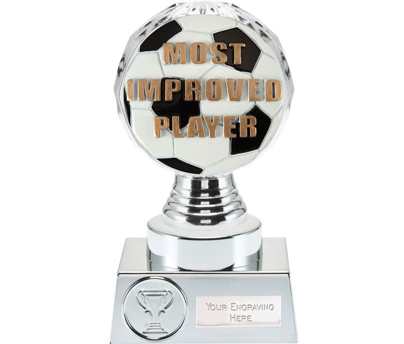 "Most Improved Player Trophy Silver Hemisphere 15cm (6"")"