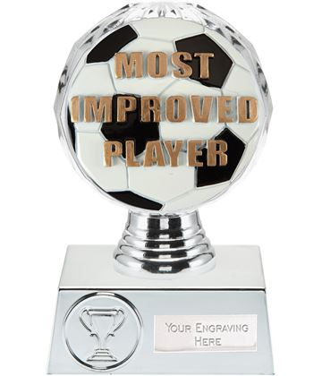 "Most Improved Player Trophy Silver Hemisphere 13.5cm (5.25"")"