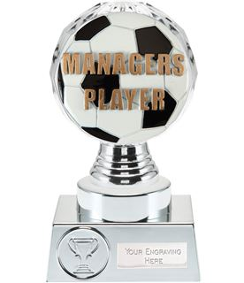 """Managers Player Trophy Silver Hemisphere 15cm (6"""")"""