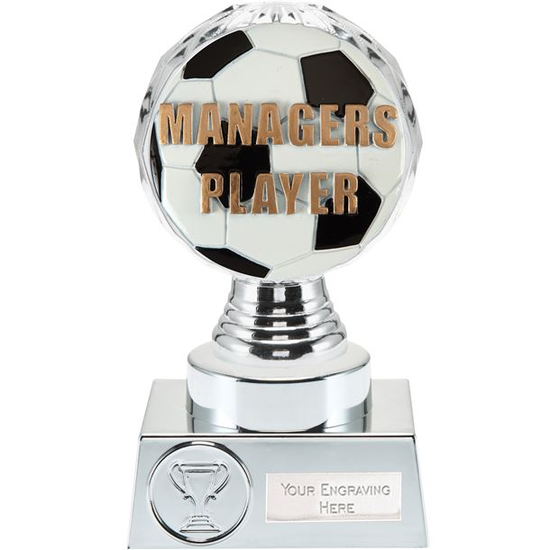 "Managers Player Trophy Silver Hemisphere 15cm (6"")"