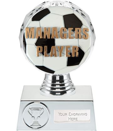 "Managers Player Trophy Silver Hemisphere 13.5cm (5.25"")"
