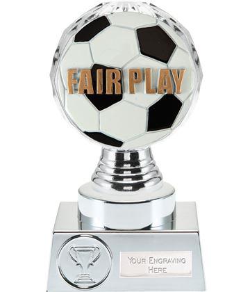 "Fair Play Trophy Silver Hemisphere 15cm (6"")"