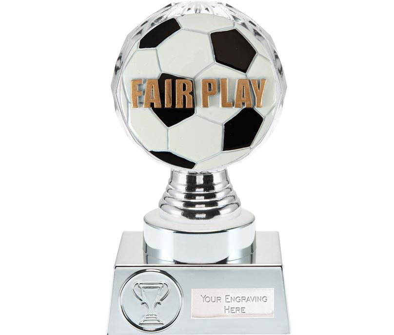 "Fair Play Trophy Silver Hemisphere 15cm (6"")"