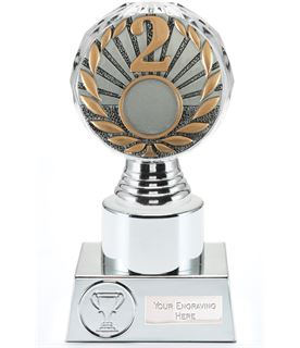 "2nd Place Trophy Silver Hemisphere 16.5cm (6.5"")"