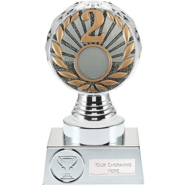 "2nd Place Trophy Silver Hemisphere 15cm (6"")"