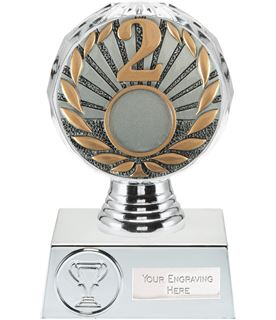 "2nd Place Trophy Silver Hemisphere 13.5cm (5.25"")"