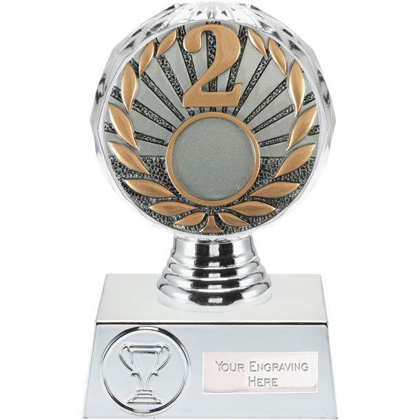 "2nd Place Trophy Silver Hemisphere 13.5cm (5.25"")"