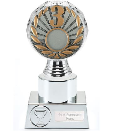 "3rd Place Trophy Silver Hemisphere 16.5cm (6.5"")"