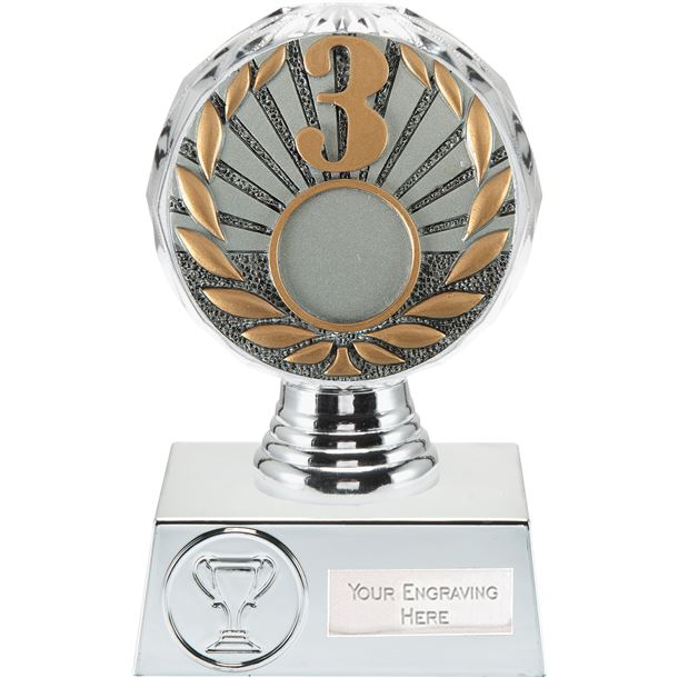 "3rd Place Trophy Silver Hemisphere 13.5cm (5.25"")"