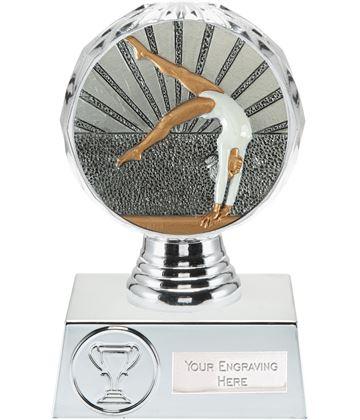"Female Gymnastics Trophy Silver Hemisphere 13.5cm (5.25"")"