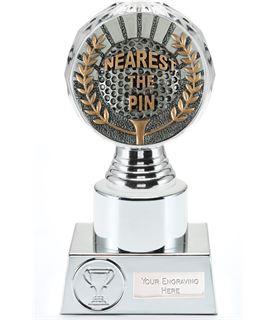 "Nearest the Pin Golf Trophy Silver Hemisphere 16.5cm (6.5"")"