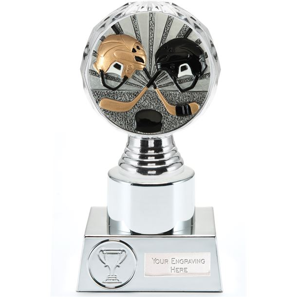 "Ice Hockey Trophy Silver Hemisphere 16.5cm (6.5"")"