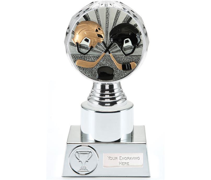 "Ice Hockey Trophy Silver Hemisphere 16.5cm (6.5"")"