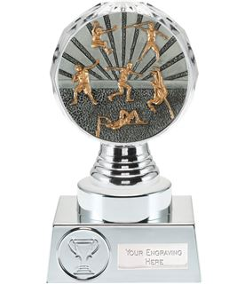 """Track and Field Trophy Silver Hemisphere 15cm (6"""")"""