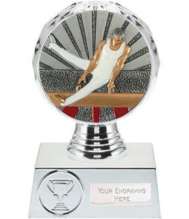 "Male Gymnastics Trophy Silver Hemisphere 13.5cm (5.25"")"