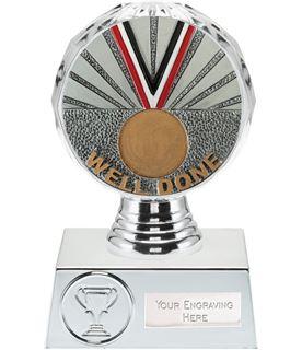"Well Done Trophy Silver Hemisphere 13.5cm (5.25"")"