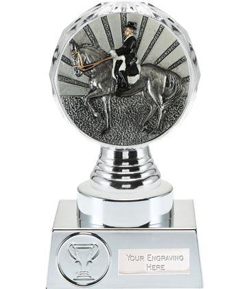 "Dressage Trophy Silver Hemisphere 15cm (6"")"