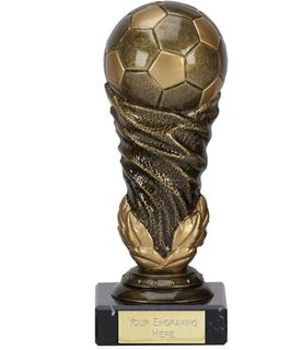 "Antique Gold Spiral Leaf Football Trophy 12.5cm (5"")"