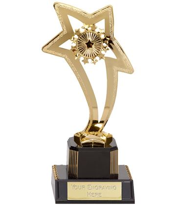 "Gold Curve Star Trophy 20.5cm (8"")"