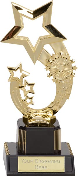 "Gold Rising Star Trophy 19.5cm (7.75"")"