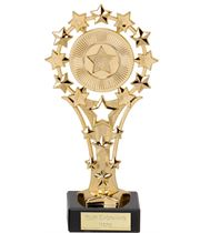 """Gold All Star Trophy on Marble Base 17cm (6.75"""")"""
