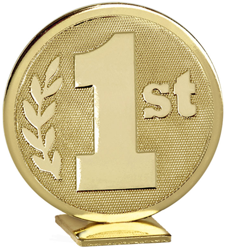 """Gold Global 1st Place Self Standing Award 6cm (2.25"""")"""