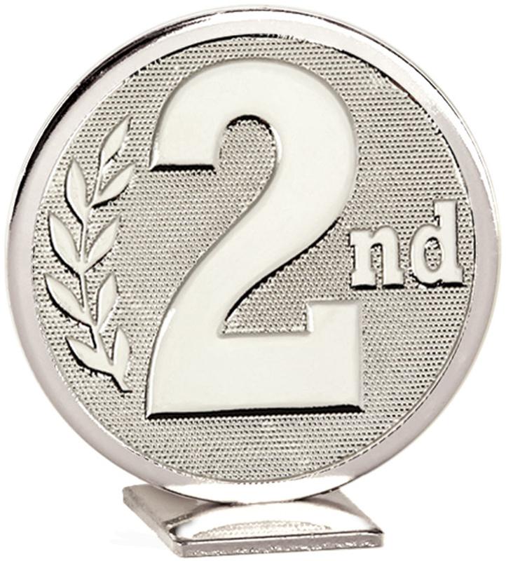 """Silver Global 2nd Place Self Standing Award 6cm (2.25"""")"""