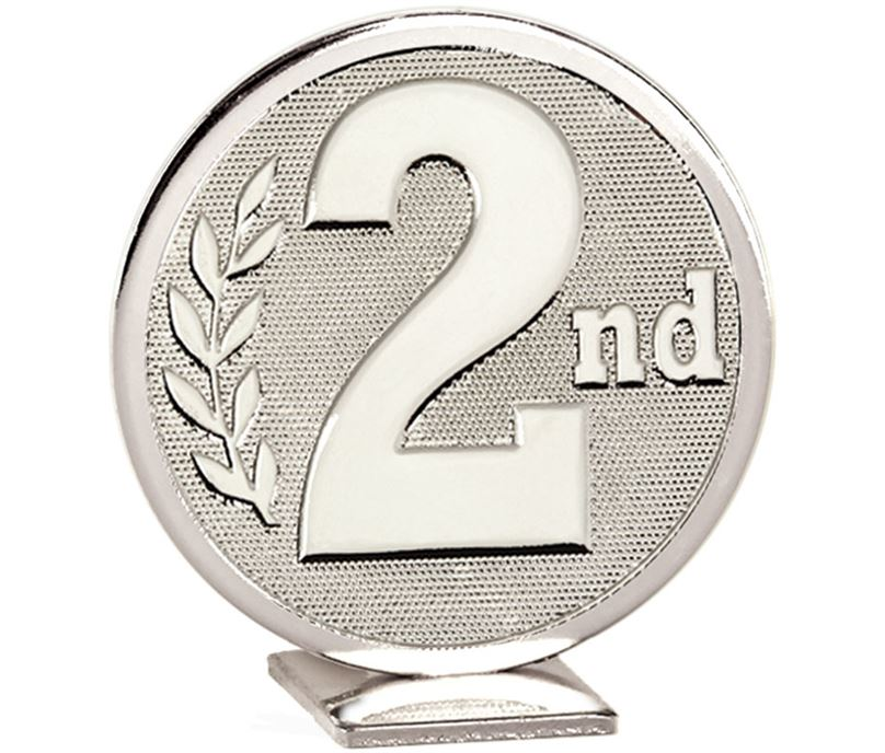 """Silver Global 2nd Place Self Standing Award 60mm (2.25"""")"""