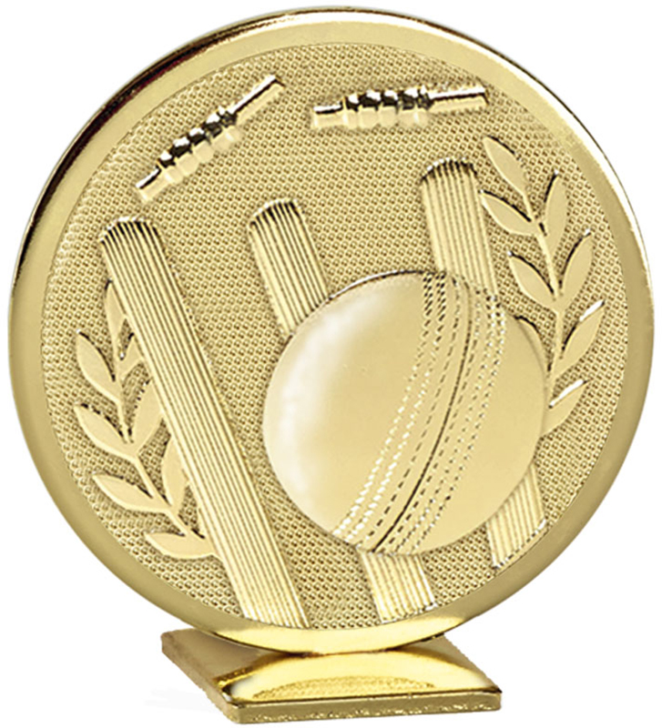 "Gold Global Cricket Self Standing Award 60mm (2.25"")"