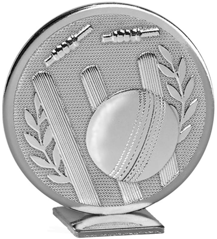 "Silver Global Cricket Self Standing Award 60mm (2.25"")"